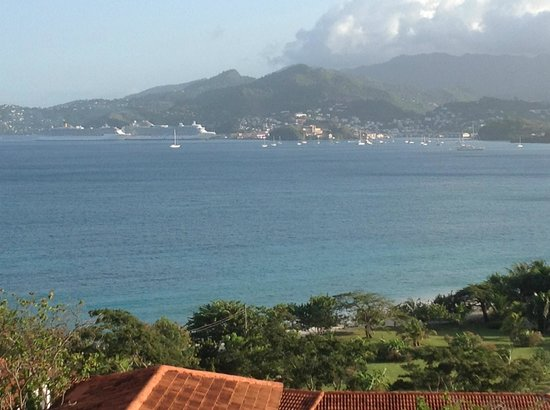 Mount Cinnamon Resort & Beach Club: VIEW FROM VILLA 9 AT MOUNT CINNAMON