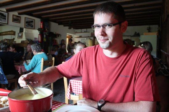 Restaurant Auberge du Charmant Som : Ah la fondue du Charmant Som