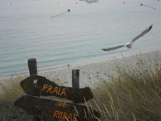 Vista de la playa de Rodas.