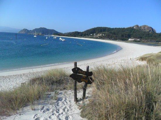 Vista de la playa de Rodas