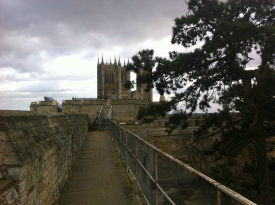 Lincoln Castle: The cathedral from the castle walls