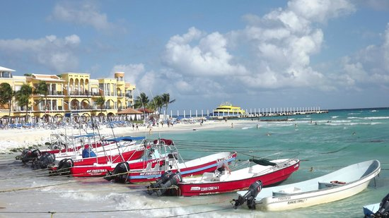 Real Playa del Carmen: View of sister hotel and beach club