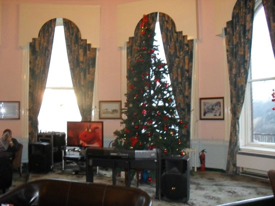 Grand Hotel Scarborough: This is the tree in the Empress Suite bar