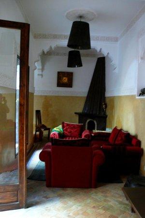 Riad Kasbah : salon descanso