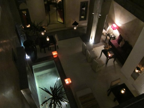 Riad Dar One: I loved the glow of the riad at night! This is from the balcony, directly outside Dune room.
