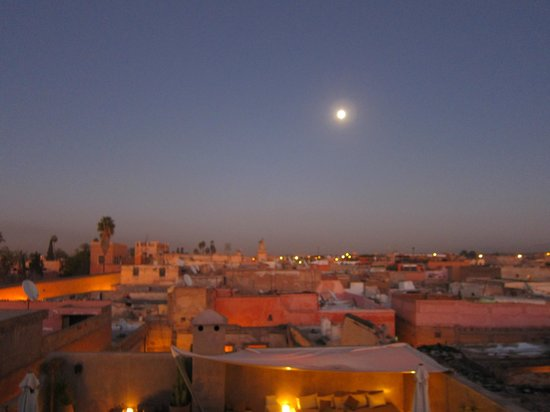 Riad Dar One: Another great night from atop the rooftop (above the terrace guest room).