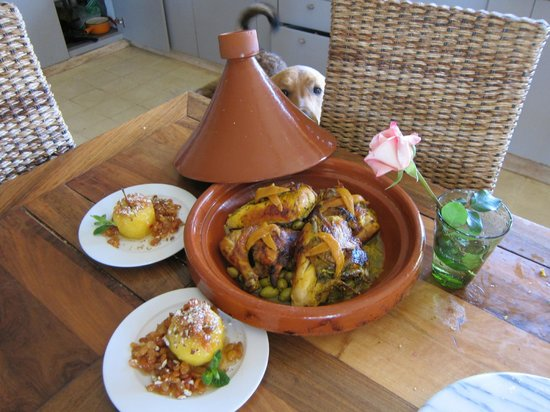 Riad Dar One: The beautiful Moroccan meal we prepared as part of the off-site cooking class.