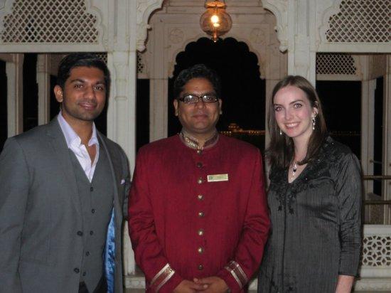 Taj Lake Palace Udaipur: Enjoying a private dinner on the Sajjan Terrace