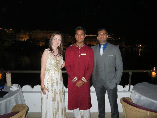 Taj Lake Palace Udaipur: Enjoying a dinner at Bhairo- with a member of the Taj Lake Palace Staff