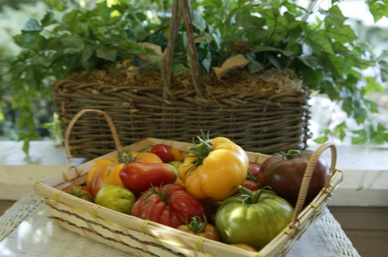 Kelley & Young Wine Garden Inn : Estate-grown tomatoes - served at breakfast