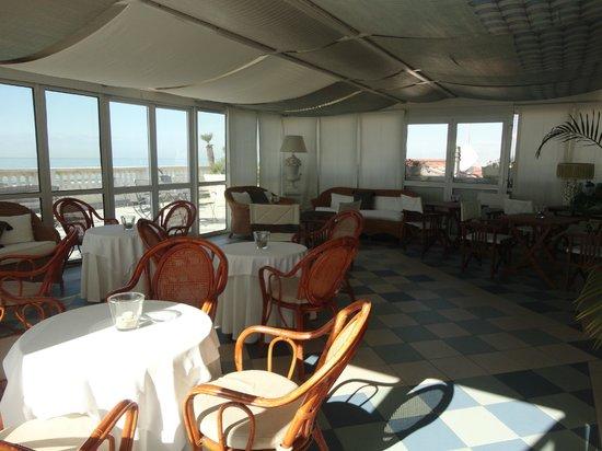 Palace Hotel: la terrasse intérieure