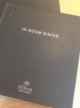 Hilton Manchester Deansgate : Food left on the room service menu!