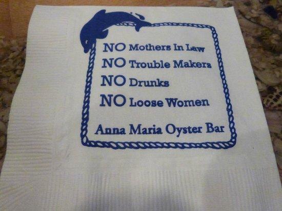 Anna Maria Oyster Bar - Cortez : motto