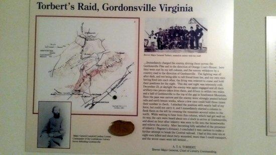 Civil War Medical Museum: Display about Tolbert's Raid