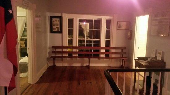 Civil War Medical Museum: A bench upstairs