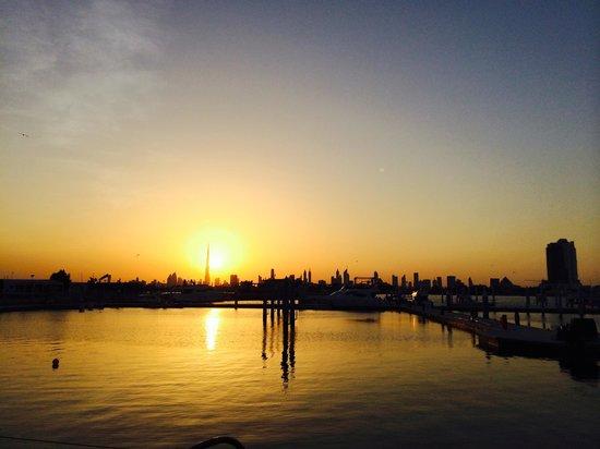 InterContinental Dubai Festival City : Sunset from festival mall