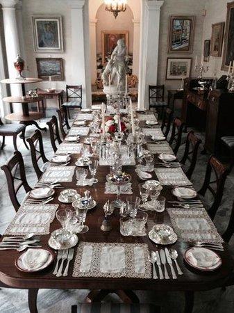Casa Rocca Piccola : la preziosa sala da pranzo