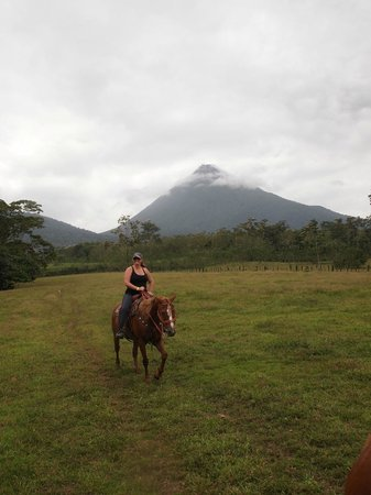 Alberto's Horses: Arenal volcano in the background