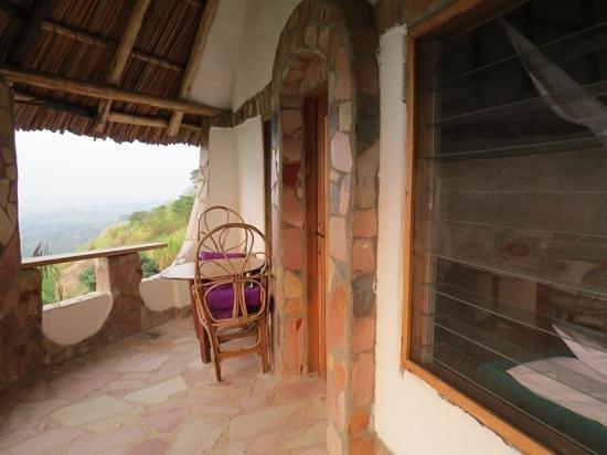 Kingfisher Lodge Kichwamba : the balcony