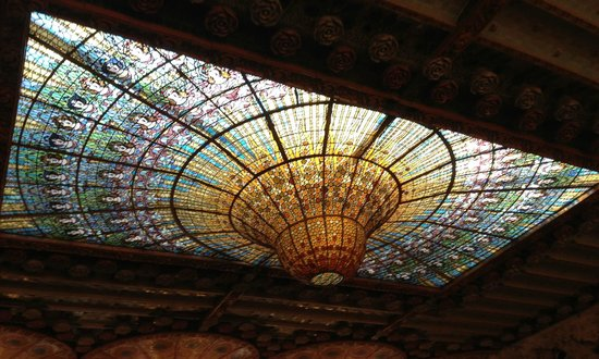 Palais de la Musique Catalane (Palau de la Musica Catalana) : Знаменитый купол из разноцветного стекла