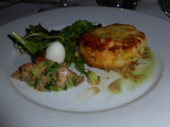 scrummy - smoked haddock, lemon and norfolk dapple soufflé