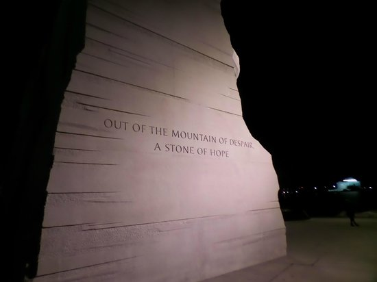Martin Luther King, Jr. Memorial : Quote on the side!