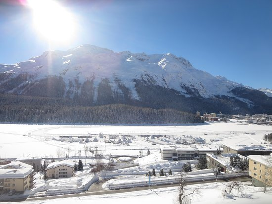 Kulm Hotel St. Moritz: The view from our room