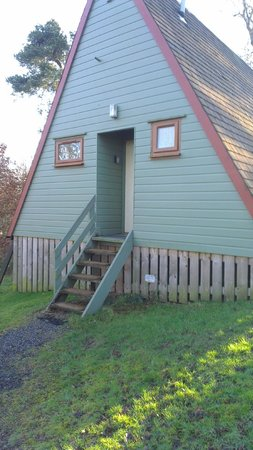 Craigs Lodges: external view of lodge 8