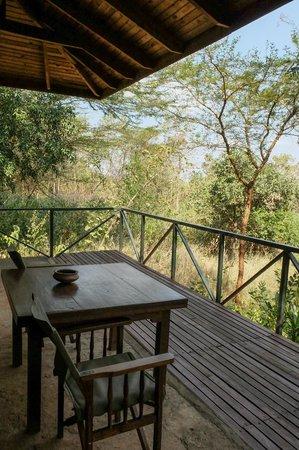 Ngorongoro Farm House, Tanganyika Wilderness Camps: our balcony