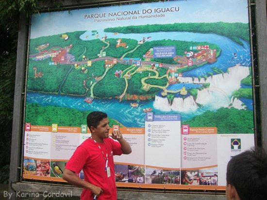 Iguazu Falls: Mapa do Parque das Cataratas Brasil