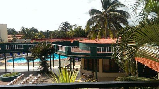 Hotel Oasis: view from front door of room