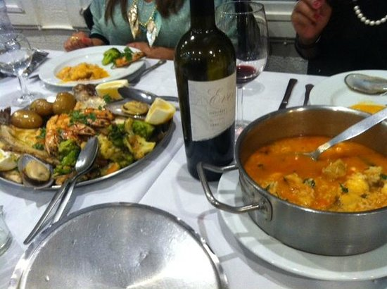 Restaurante Mar do Inferno : Sea Platter & Monkfish rice