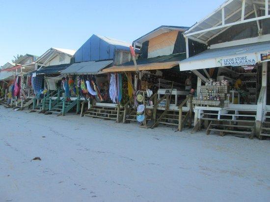 Ocean Blue & Sand: The shops on the beach