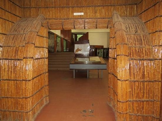 Uganda Museum: dusty entrance to the decent exhibits on ethnography
