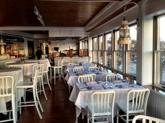 Lee Side Bar & Grill: Evening light bathes the new dining room at the Quicks Hole Tavern.