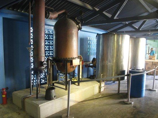 Curacao Liqueur Distillery: Розлив Blue Curacao бездействует