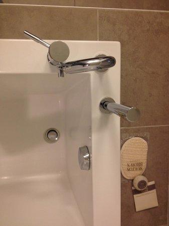 Hotel Le Crystal: Faulty bathtub faucet