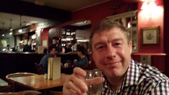 The Fishbourne: Fantastic wine list all served at right temperature
