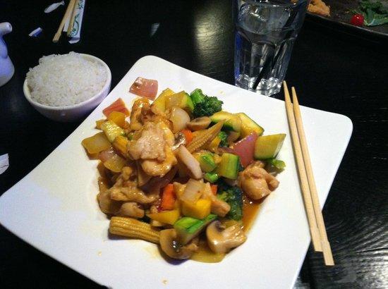 Nagoya Asian Bistro: mango chicken