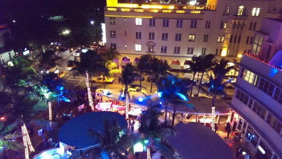 South Beach: On rooftop of Clevelander