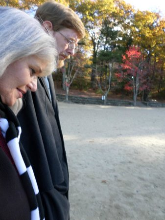Walden Pond State Reservation: Walking on Walden Pond early morning hours, October 29, 2014
