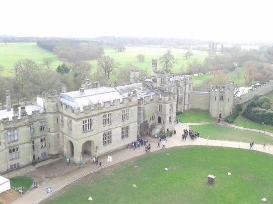 Warwick Castle: View from walk