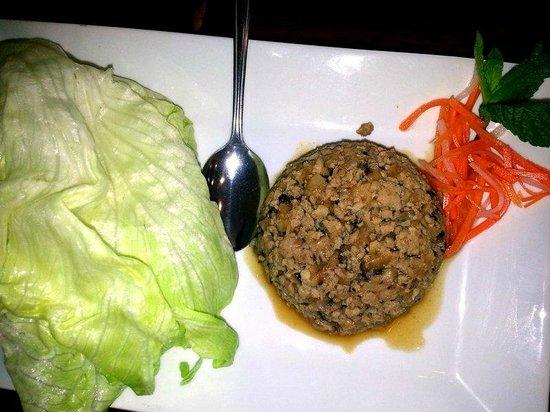 Pho TNT: Chicken lettuce wraps