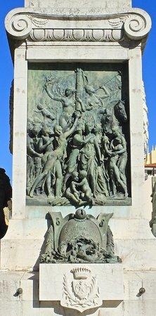 Place Garibaldi: БАРЕЛЬЕФ НА ПАМЯТНИКЕ ГАРИБАЛЬДИ