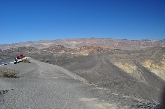 Ubehebe Crater: Parking Area, Viewing Area, and Rim Trail