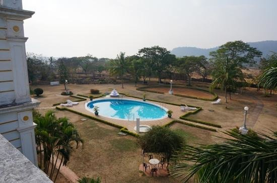 Lalitha Mahal Palace Hotel: Large pool, Dead Grass!