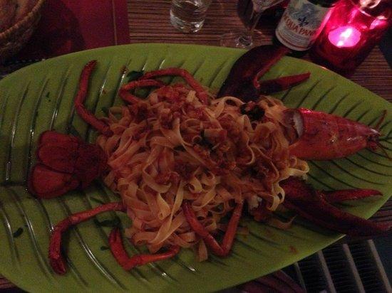Osteria del Centro: lobster spaghetti (huge plate)