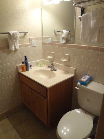 The Beachside Resort: small vintage bathroom