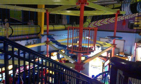 Andretti Thrill Park: Rope Course, 2nd floor above Arcade