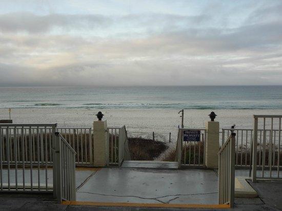 The Beachside Resort: exit to beach